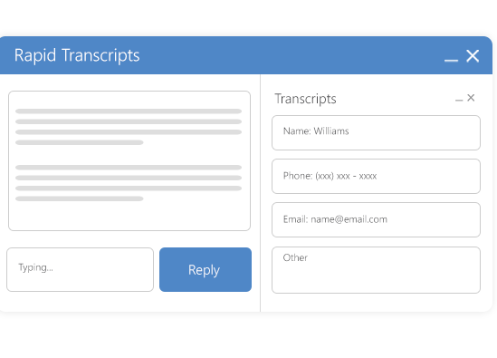 Rapid Transcripts
