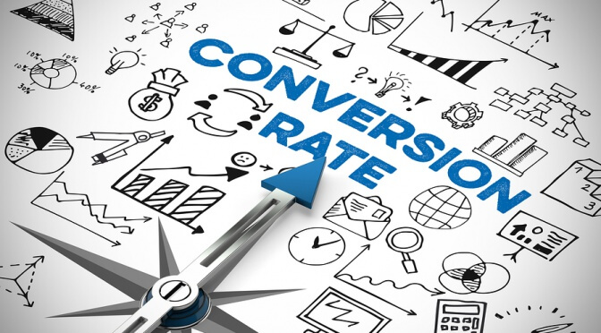 Conversion rate in online marketing