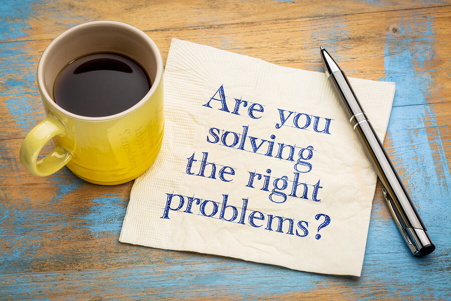 Are you solving the right problems? Handwriting on a napkin with