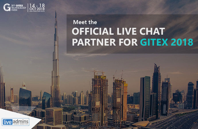 The Future Is Now: LiveAdmins is GITEX's Official Live Chat Partner- 5th Year in a Row