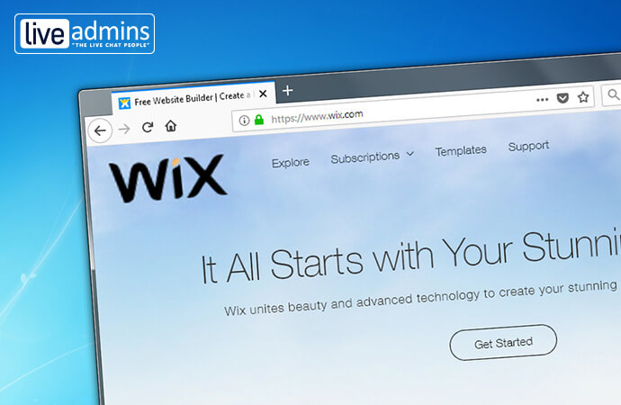LiveAdmins integration with wix